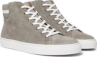 Lauren High Ralph Jerold Suede Label top Purple SneakersGray R354jAL