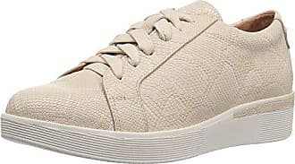 Gentle Souls by Kenneth Cole Womens HADDIE PLATFORM LACE-UP FASHION SNEAKER- EMBOSSED Shoe, nude, 9 M US