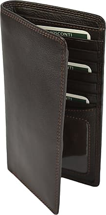 Visconti SOFT BROWN (Choco) LEATHER LONG SLIM TRAVEL 8 CARD GENTS HT12 WALLET(Size: Large)