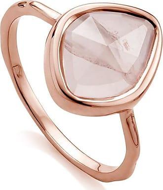 Monica Vinader Siren Small Nugget Stacking Rose Quartz ring - PINK