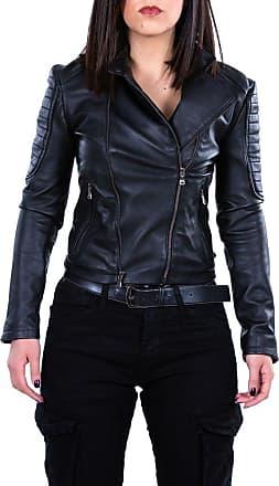 Leather Trend Italy Chiodo Roma - Giacca Donna in Vera Pelle colore Nero Morbida