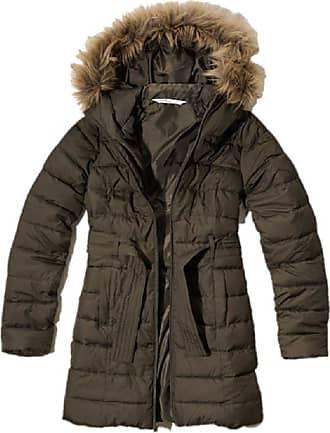 Hollister New Scripps Pier Parka Puffer Jacket Fleece Lined Olive Green L Large