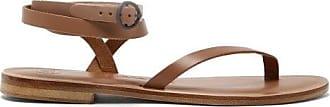 ÁLVARO GONZÁLEZ Arubina Wraparound Leather Sandals - Womens - Tan