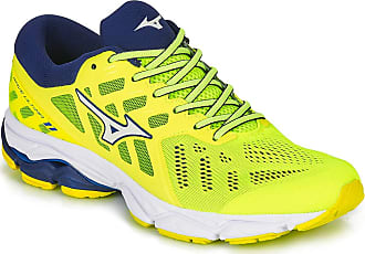 Mizuno Mens Wave Ultima 11 Road Running Shoe, Yellow/Wht/Blue Depths