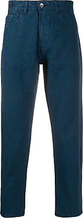Ymc You Must Create Calça slim com listras - Azul