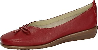 48 Horas 10401/40 Leather Handlets Woman Shoes Mocasin Red Size: 3 UK
