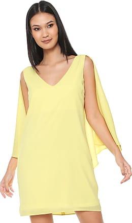 Ana Hickmann Vestido Ana Hickmann Curto Assimétrico Amarelo