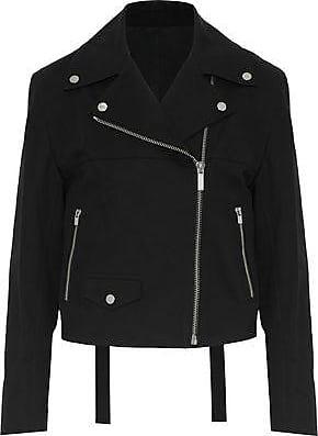 Helmut Lang Helmut Lang Woman Stretch-cotton Biker Jacket Black Size L