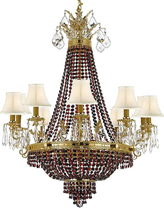 Gallery T22-2221 15 Light 30 Wide Crystal Empire Chandelier with Red