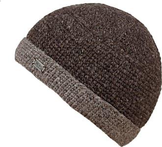 KuSan 100% Wool Knitted Turn-Up Beanie (PK839) (Brown)