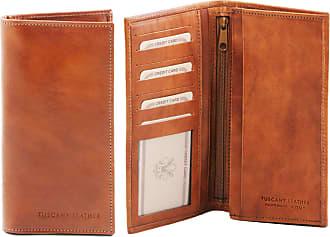 e1130e4960 Tuscany Leather Esclusivo portafoglio verticale in pelle uomo 2 ante Testa  di Moro