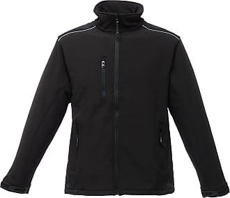 Regatta Mens Sandstorm Hardwearing Workwear Softshell Jacket (Water Repellent) (L) (Black/Black)