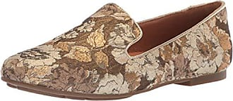 Gentle Souls by Kenneth Cole Womens Eugene Loafer Flat Shoe, gold/multi, 10 M US