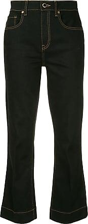 Khaite Calça jeans flare cropped Fiona - Azul