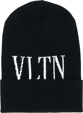 Valentino Garavani logo knit beanie - Preto