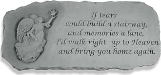 Kay Berry Outdoor Kay Berry If Tears Could Build A Stairway Memorial Bench - 29 in. Cast Stone - 37120