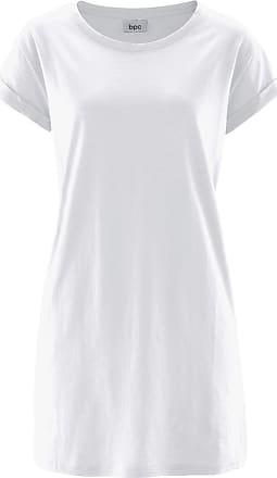 420a2468bea5f3 Bonprix Boxy-Longshirt mit kurzen Ärmeln Flügelärmel in weiß von bonprix
