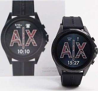 A|X Armani Exchange Drexler silicone smart watch in black AXT2007