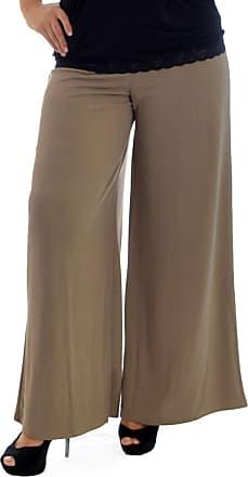 Nouvelle Collection Crepe Plazzo Trouser Mocha 26-28