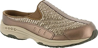 Easy Spirit Womens Traveltime Leather Low Top Slip On Walking, Gold, Size 12.0 U US