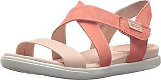 Ecco Womens Damara Crisscross Gladiator Sandal, Rose Dust/Coral, 41 EU/10-10.5 M US