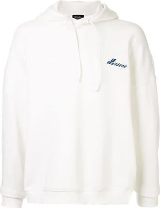 We11done Oversized-Kapuzenpullover mit Logo - Weiß