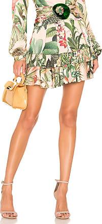 PatBo Paradise Print Ruffle Mini Skirt in Pink