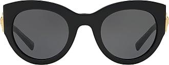 Versace Óculos de sol Tribute oversized - Preto