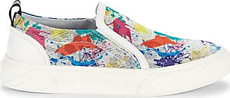 Karl Lagerfeld Paint-Splatter Perforated Slip-On Runners