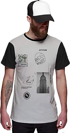 Di Nuevo Camiseta Empire State NY Street Wear Caveira Di Nuevo Atitude Prepared