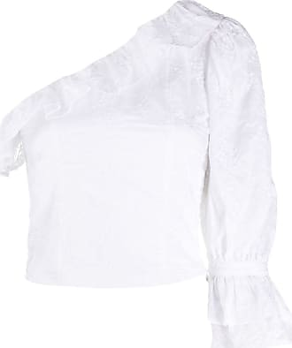 WANDERING Blusa assimétrica com detalhe bordado - Branco
