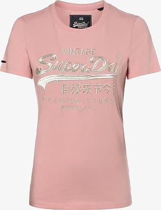 Neues Damen Superdry Besticktes T-Shirt mit Raglanärmeln Dunkelblau