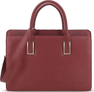 b8f25282b57e LYDC London Faux Leather Vintage 3 Compartment Briefcase Laptop Tablet Bag  Ladies Work Office Shoulder Handbag