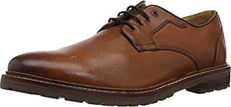 Florsheim Mens ESTABROOK PT OX Oxford Dress Casual Shoe, Cognac Tumble, 10.5 Wide