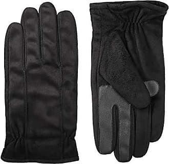 Isotoner Stretch Leather Mens Gloves, Touchscreen Technology, Dual Lining, Black, XL