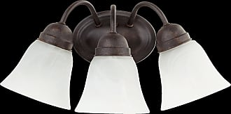 Quorum 3 Light Faux Alabaster Wall Mount in Toasted Sienna