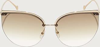 Salvatore Ferragamo Donna occhiali da sole Shiny Gold/brown Lens
