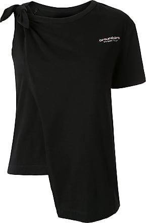 Ground-Zero Camiseta com detalhe de nó - Preto