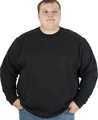Espionage Mens Basic Crew Neck Sweat Shirt-Black-5XL