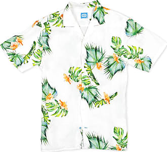 Panareha HONOLULU Hawaiian Linen Aloha Shirt white