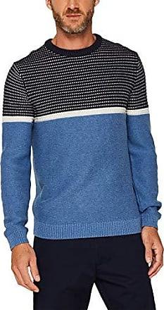 ESPRIT Herren Pullover mit Struktur Regular Fit, Blau (Navy