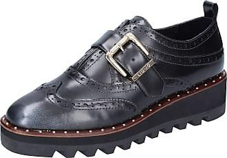 Liu Jo Women Leather Black Oxfords-Shoes 7.5 UK