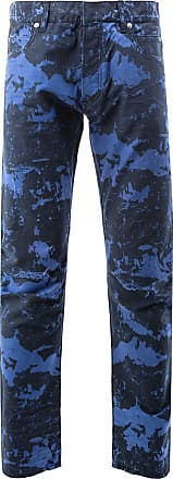 Balmain Marble print jeans - Blue