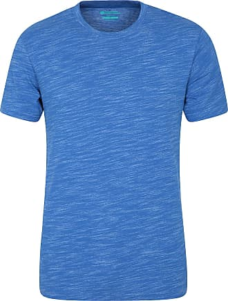 Mountain Warehouse Hasst Henley Mens Tee - Lightweight T-Shirt, Cosy, Slim Fit Tee Shirt, Crew Neck Top - Best for Travelling, Walking, Hiking, Outdoors, Gym & Sports Bl