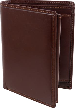 Visconti Mens LUXURY Slim Italian LEATHER WALLET by Visconti; Monza Collection Gift Box (Brown)