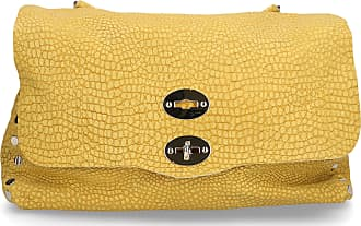 Zanellato Handbag DESERT leather embossment logo yellow
