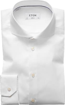 Eton Oberhemd, Super Slim Fit von Eton in Weiss für Herren