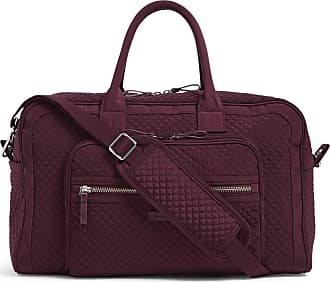 Vera Bradley Womens Iconic Microfiber Compact Weekender Travel Bag, Mulled Wine, One Size
