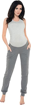 Purpless Maternity Pregnancy Joggers Under Bump Belly Support Comfortable Trousers for Pregnant Women 1314 (18, Dark Gray Melange)