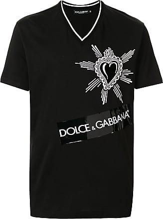 Dolce & Gabbana Camiseta com estampa gráfica - Preto